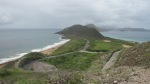 The view from the top of the mountain.  The atlantic ocean was one one side and the carribean sea to the other