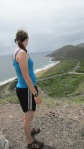 Erin checking out the view