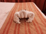 Crab towel animal