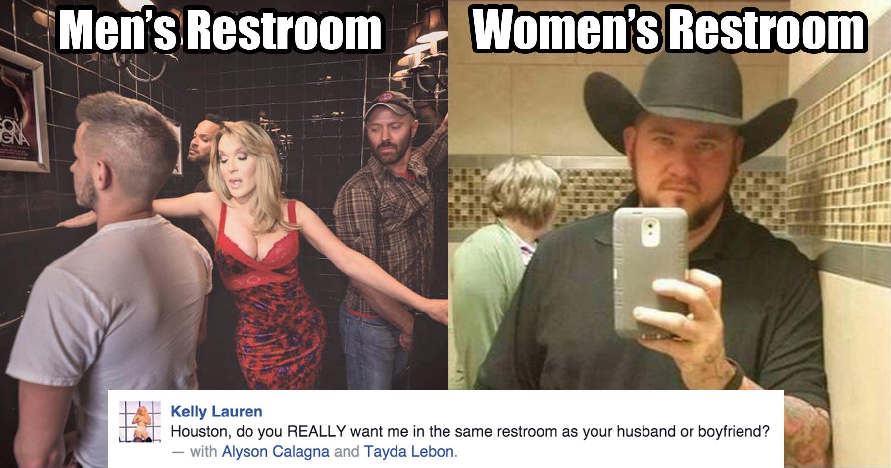 Транс наказывает мужика